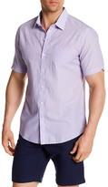 Zachary Prell JJ Micro Stripe Short Sleeve Trim Fit Shirt