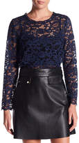 Fifteen-Twenty Fifteen Twenty Long Sleeve Lace Shirt