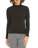 CeCe Solid Ribbed Turtleneck Long Sleeve Top
