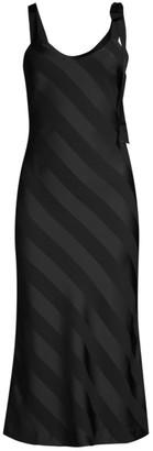 Rebecca Vallance Dolores Striped Slip Dress