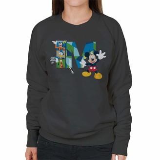 Disney Mickey Mouse Goofy Donald Duck And Pluto Women's Sweatshirt Charcoal