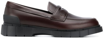 Car Shoe Classic Loafers With Chunky Rubber Sole