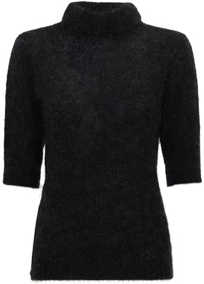 Lardini Rosa Virgin Wool Blend Knit Sweater