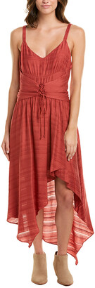 BCBGMAXAZRIA Lace-Up Maxi Dress