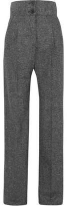 Antonio Berardi Melange Wool-tweed Wide-leg Pants
