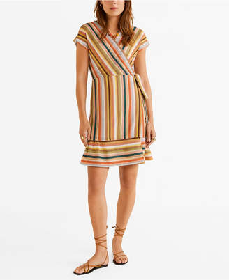 MANGO Striped Jersey Dress