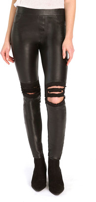 As By Df Destroyed Leather Leggings