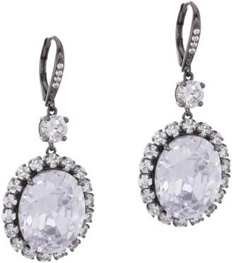 Nina Jewelry Oval Halo Drop Earrings
