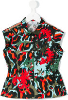 Young Versace - printed shirt - kids - Cotton/Spandex/Elastane - 4 yrs