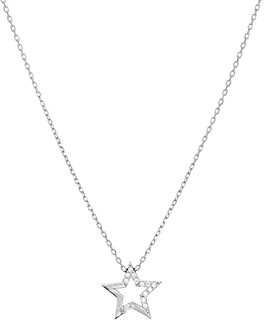 Aqua Embellished Star Pendant Necklace in 14K Gold-Plated Sterling Silver or Sterling Silver, 16 - 100% Exclusive