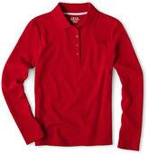 Izod Long-Sleeve Polo - Girls 7-18 and Plus