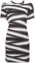 Nicole Miller bandage stripe dress