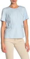 Donna Karan Short Sleeve Crew Neck Top