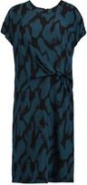 By Malene Birger Bellatrix draped printed silk-crepe dress