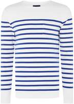Scotch & Soda Engineered Breton Stripe Sweatshirt