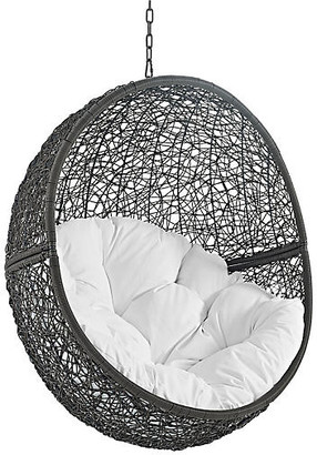 One Kings Lane Hide Outdoor Porch Swing - Gray/White