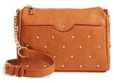 BP Studded Faux Leather Crossbody Bag - Brown