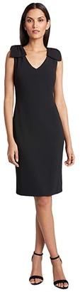Tahari ASL Petite Knit Day Dress (Black) Women's Dress