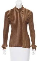 Salvatore Ferragamo Wool-Blend Long-Sleeve Top
