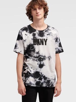DKNY Cloud Wash Logo Tee