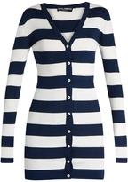 Dolce & Gabbana Rigato striped silk-jersey cardigan