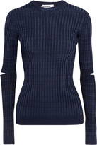 Jil Sander Cutout Ribbed-Knit Sweater