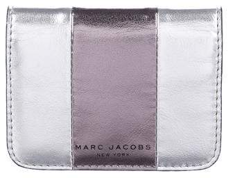 Marc Jacobs Metallic Leather Card Wallet
