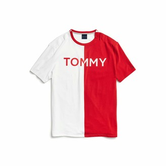Tommy Hilfiger Men's Adaptive T Shirt with Magnetic-Buttons at Shoulders