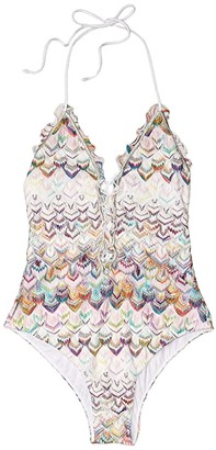 Missoni Mare Tie Front One-Piece Swimsuit (Multi) Women's Swimsuits One Piece