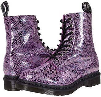 Dr. Martens 1460 Snake Metallic (Purple Snake Metallic Suede) Women's Lace-up Boots