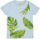 Scotch Shrunk LEAF-PRINT COTTON-BLEND T-SHIRT