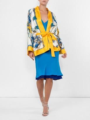 Haider Ackermann Deep V-neck Dress Blue