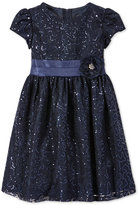 Rare Editions Sparkle Lace Dress, Toddler & Little Girls (2T-6X)
