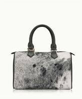 GiGi New York Brooke Barrel Bag Natural American Haircalf -001