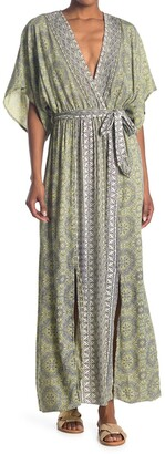 Nostalgia Apparel V-Neck Wide Sleeve Maxi Dress