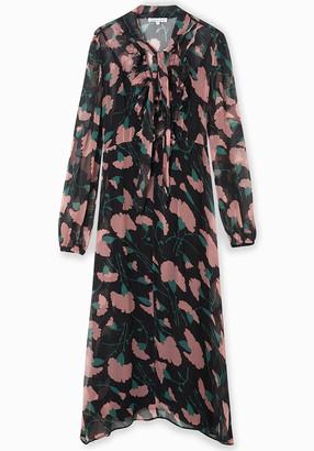 Lily & Lionel 70s Midi Dress in Peony - Size XS   viscose