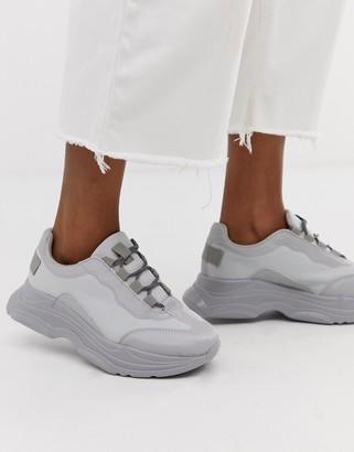 Asos Design DESIGN Dare chunky sneakers in pale gray