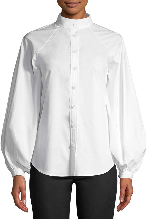 Derek Lam Women's Solid Cotton Button-Down Shirt