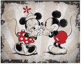 Artissimo Disney's Mickey Mouse & Minnie Mouse Laughing Canvas Wall Art