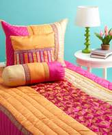 Bacati Tangerine Orange and Fuschia Queen Quilt