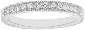 Affinity Diamond Jewelry Affinity 1/5 cttw Diamond Milgrain Band Ring, 14K Gold