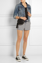 Alexander Wang Striped cotton-terry shorts