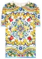 Dolce & Gabbana Printed Jacquard Top