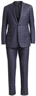 Giorgio Armani Plaid Wool Suit