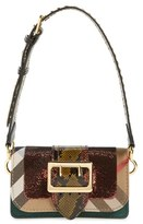 Burberry 'Belt Bag' Mixed Finish Convertible Clutch With Genuine Snakeskin Trim - Green