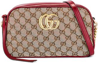 Gucci Shoulder Bag in Beige Ebony & New Cherry Red   FWRD