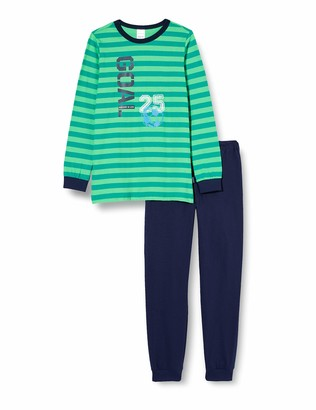Schiesser Boy's Fuball Kn Schlafanzug Lang Pajama Set