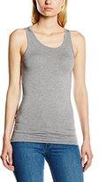 Pieces Women's Sleeveless Vest - Grey -