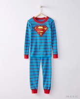 Hanna Andersson JUSTICE LEAGUETM SUPERMANTM Long John Pajamas In Organic Cotton