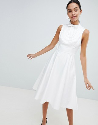 Ted Baker Lace Trim Bib Midi Dress